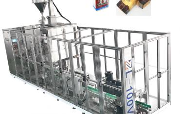 אוטומטי לינארי סוג לבנה אבק שקית מכונת אריזה
