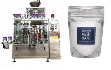 Automatic doy bag packaging machine for salt (pre-made bag )