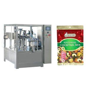 אגוזים רוטרי רוכסן שקית מכונת אריזה