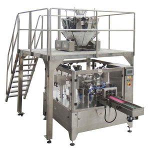 רוטרי אוטומטי רוכסן שקית מילוי חותם מכונת אריזה עבור זרעים אגוזים