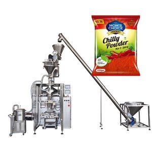 VFFS Bagger מכונת אריזה עם מילוי אוגר עבור פפריקה צ'ילי אבקת מזון
